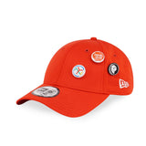 New Era Brand Pin Set Plain Red 9Forty Strapback Cap