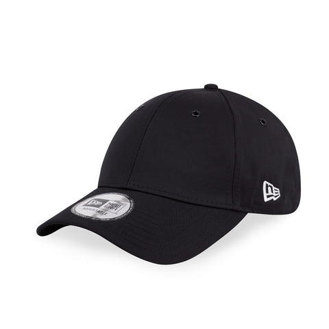 New Era Brand Pin Set Plain Black 9Forty Strapback Cap