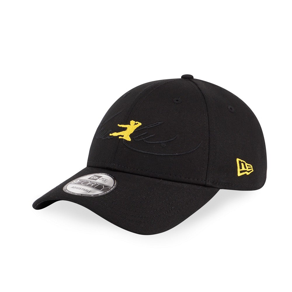 BRUCE LEE Flying Kick Black New Era 9Forty Strapback Cap