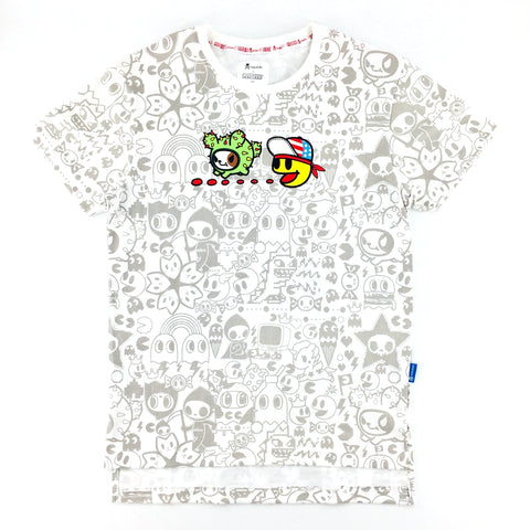 Tokidoki x Pac-Man All-Over Tokidoki Characters Printed Unisex T-Shirt