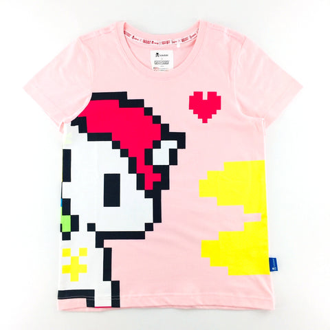 Tokidoki x Pac-Man Pixelated Unicorno Stellina in Love Pink Female T-Shirt