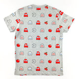 PAC-MAN Ready All-Over Melange Grey T-Shirt