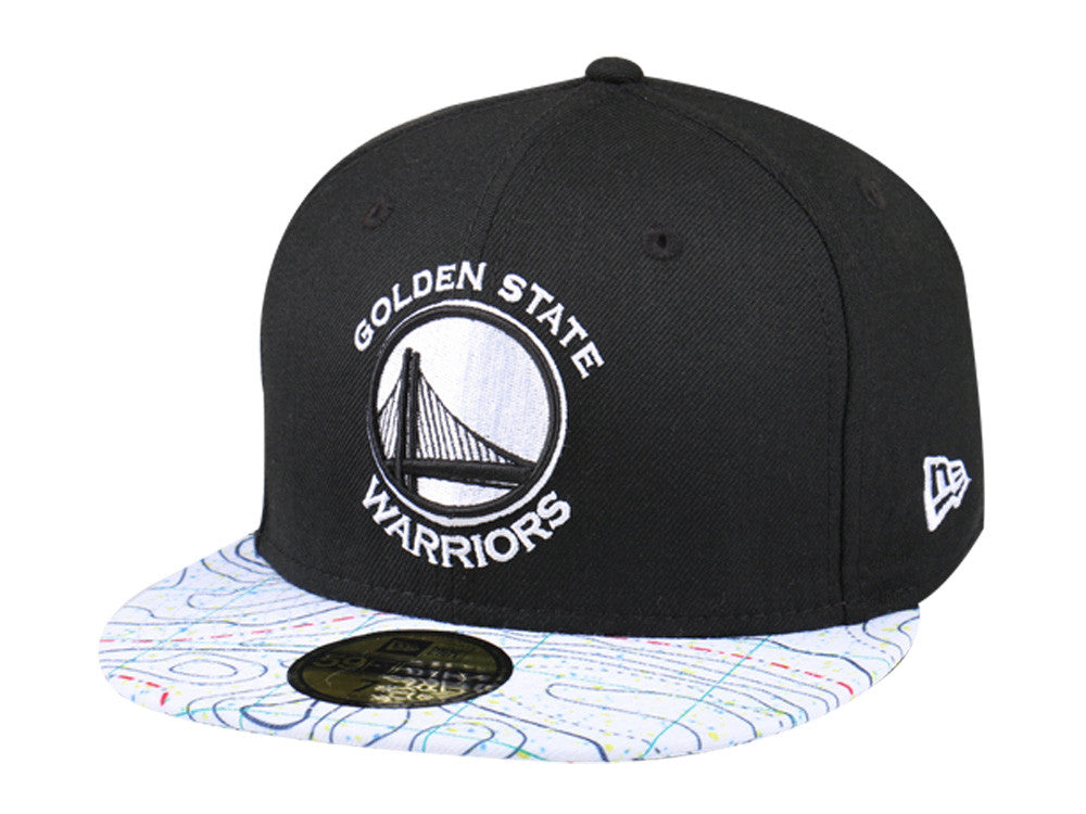 NBA Golden State Warriors Geological Survey New Era 59Fifty Fitted Cap