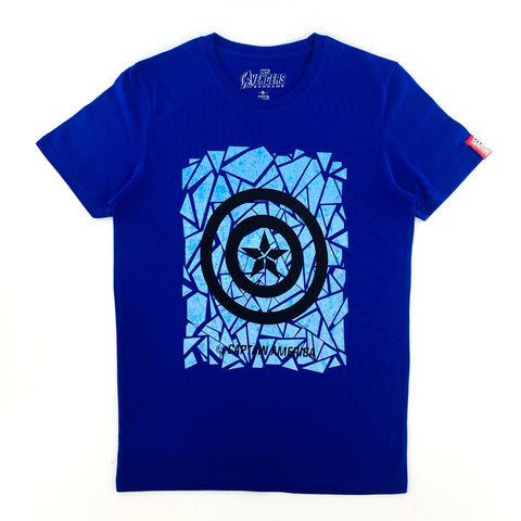 PREMIUM Marvel AVENGERS 4 END GAME Captain America Symbol T-Shirt