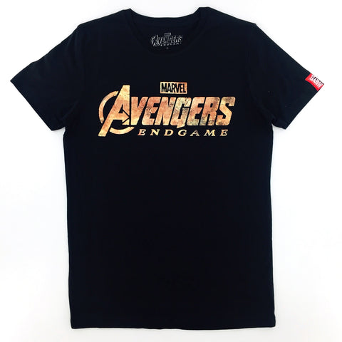 PREMIUM Marvel AVENGERS 4 END GAME High Density Movie Title T-Shirt