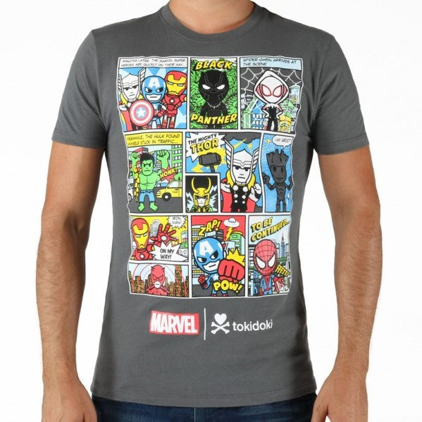 Tokidoki Marvel Avengers Comic Strips T-Shirt (US Import)