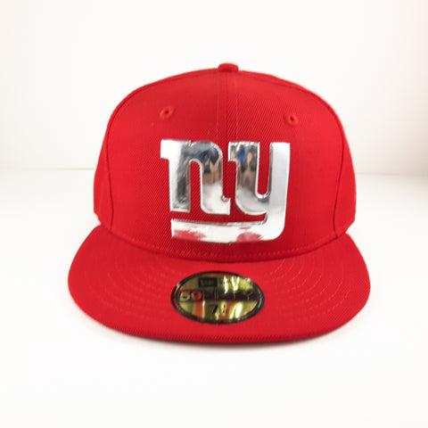 NFL Liquid Chrome New York Giants New Era 59Fifty Fitted Cap – urban TEE fd3e9d388f64