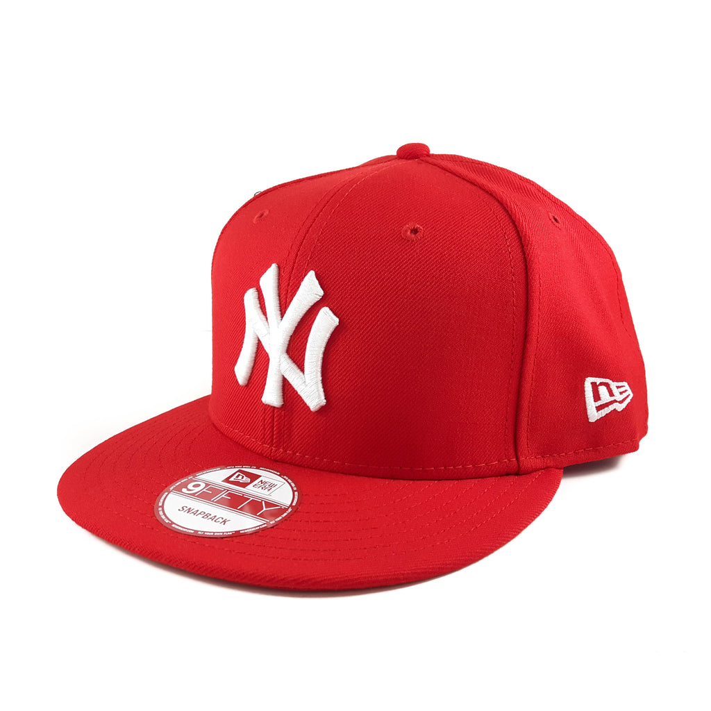 MLB New York Yankees Scarlet Red 9Fifty Snapback Cap