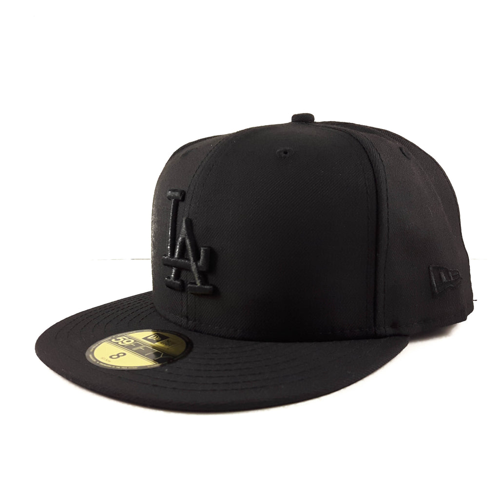 MLB Los Angeles Dodgers All Black New Era 59Fifty Fitted Cap