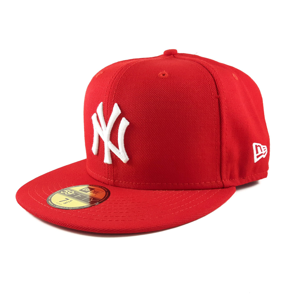 MLB New York Yankees Scarlet Red New Era 59Fifty Fitted Cap