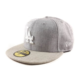 MLB Los Angeles Dodgers Heather-Oatmeal New Era 59Fifty Fitted Cap