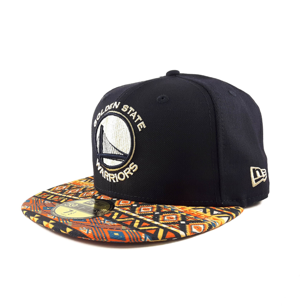 NBA Native Amarica Golden State Warriors New Era 59Fifty Fitted Cap