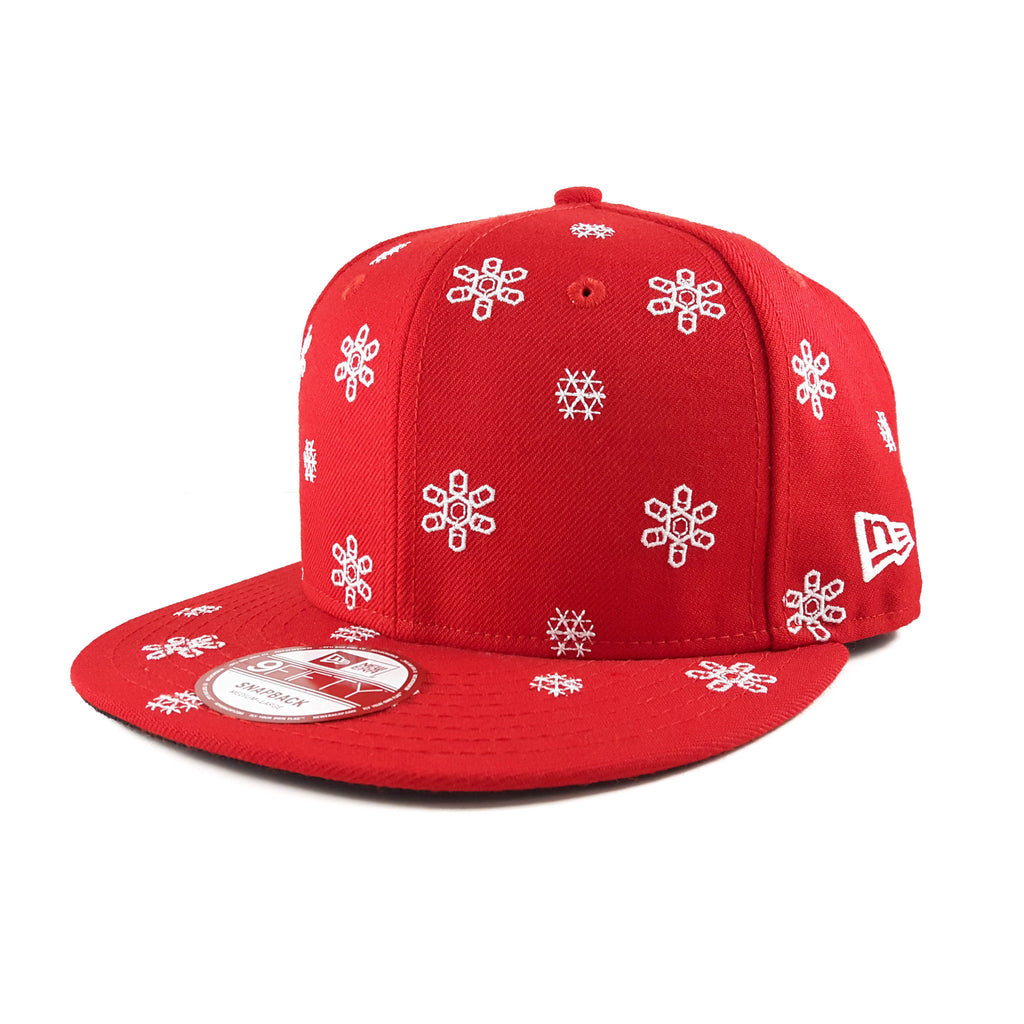 Snowflake Red New Era 9Fifty Snapback Cap