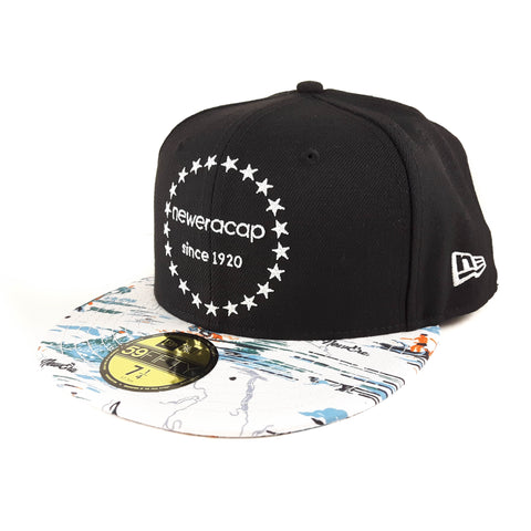 New Era Brand Black Kau Wela 59Fifty Fitted Cap