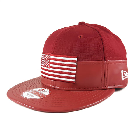 New Era Brand California 12 Block Flag 9Fifty Snapback Cap