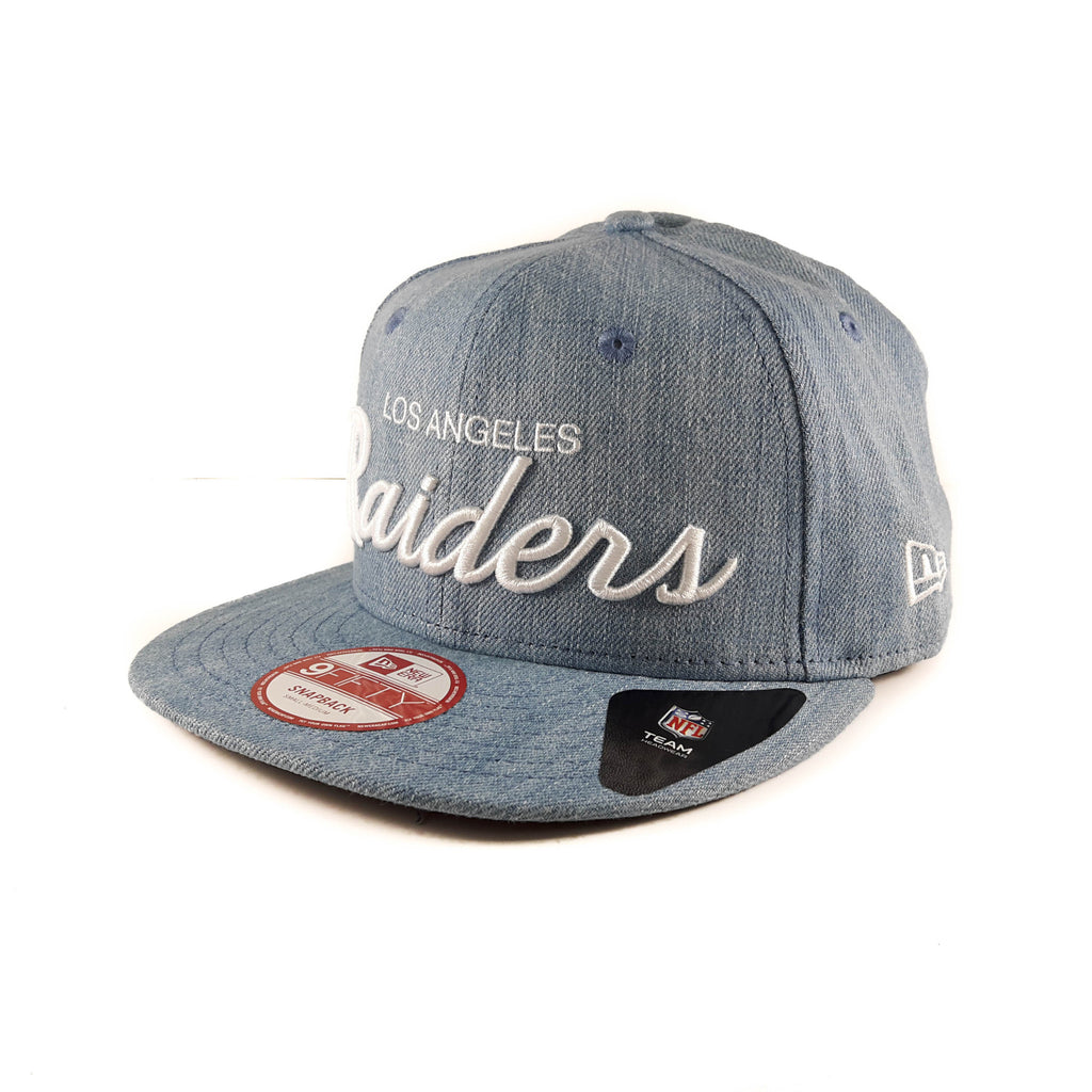 NFL Los Angeles Raiders New Era Denim 9Fifty Snapback Cap