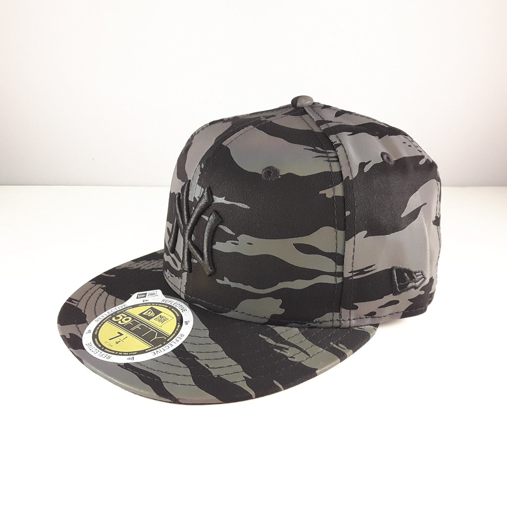 78e559a8c66 ... get reflective tiger mlb new york yankees new era 59fifty fitted cap  f1c4b 6438a