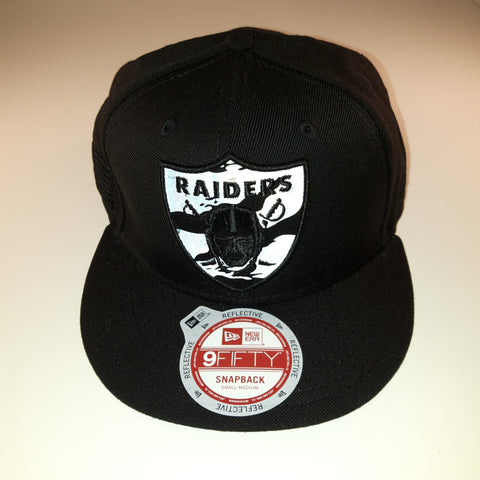 7bcfb393f64 ... Reflective Tiger NFL Oakland Raiders New Era 9Fifty Snapback Cap ...