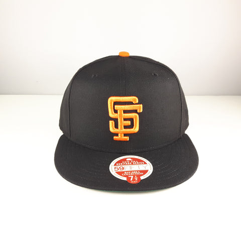 save off b36c4 a9349 ... Heritage Series Bay Area NFL San Francisco 49ers Black New Era 59Fifty  Fitted Cap ...