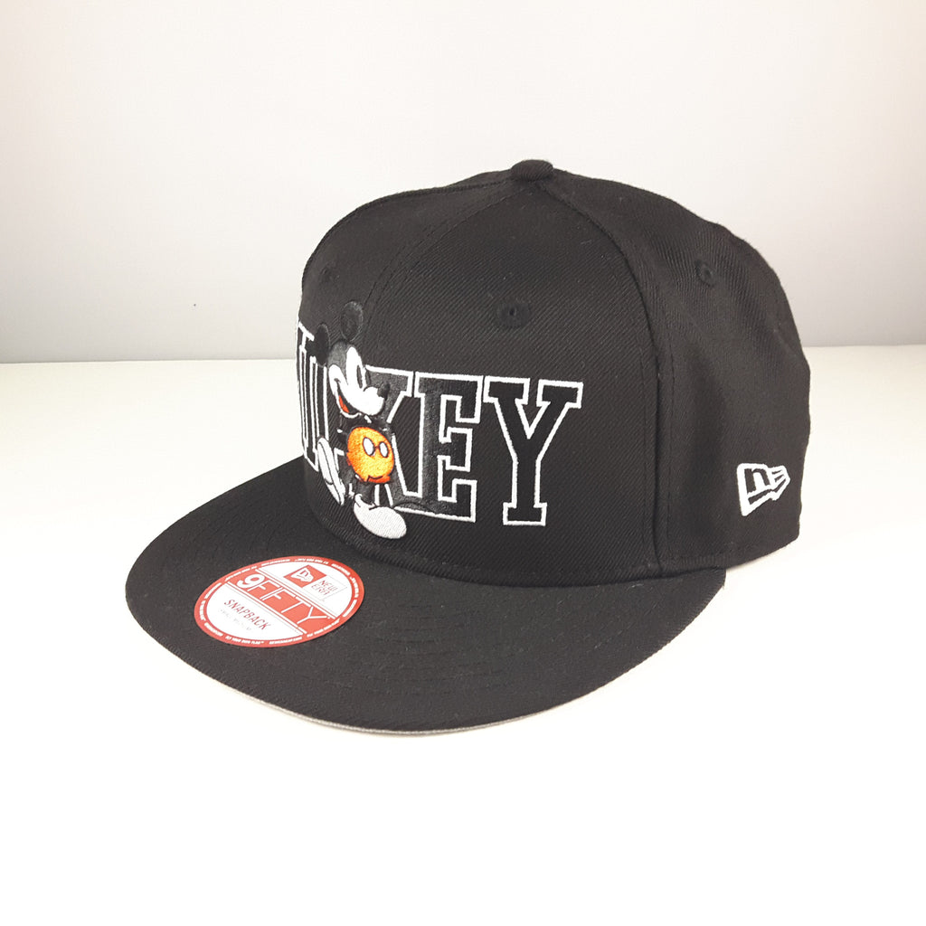 Disney Mickey Mouse Black New Era 9Fifty Snapback Cap