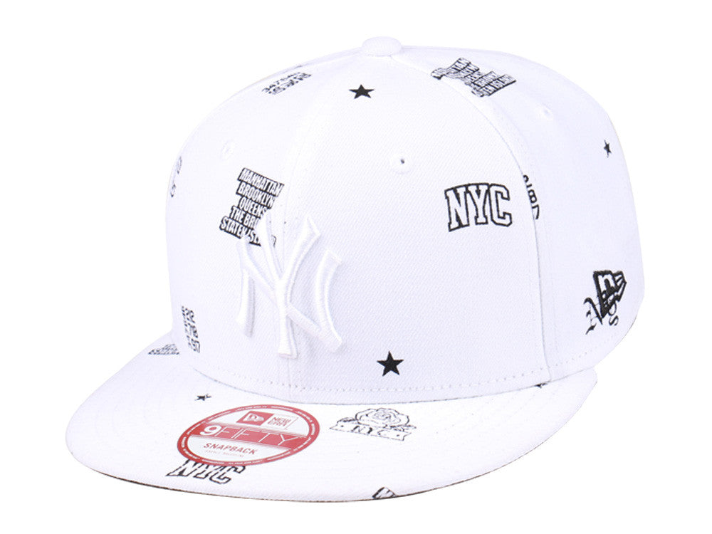 MLB New York Yankees New Yorker White New Era 9Fifty Snapback Cap