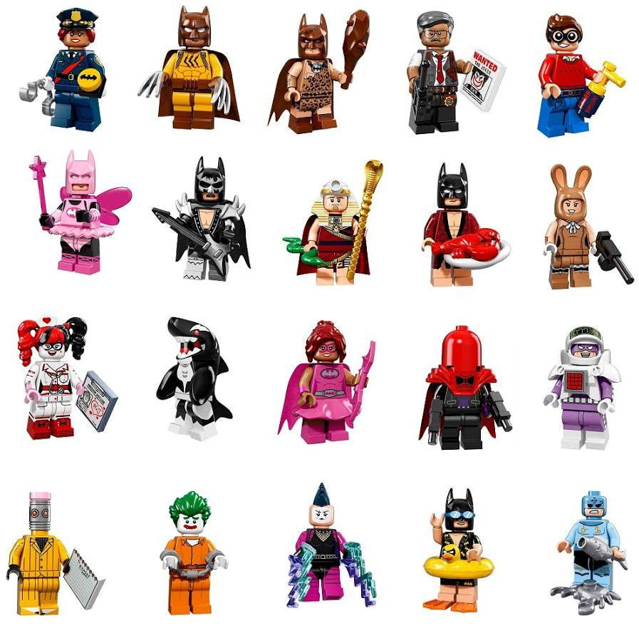 Lego 71017 Batman Minifigures Complete Set Of 20 Urban Tee Movie