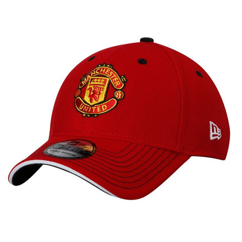Sold Out Manchester United Kit Hook Up Red New Era 39Thirty Stretch Fit Cap 82a8e49aeec6