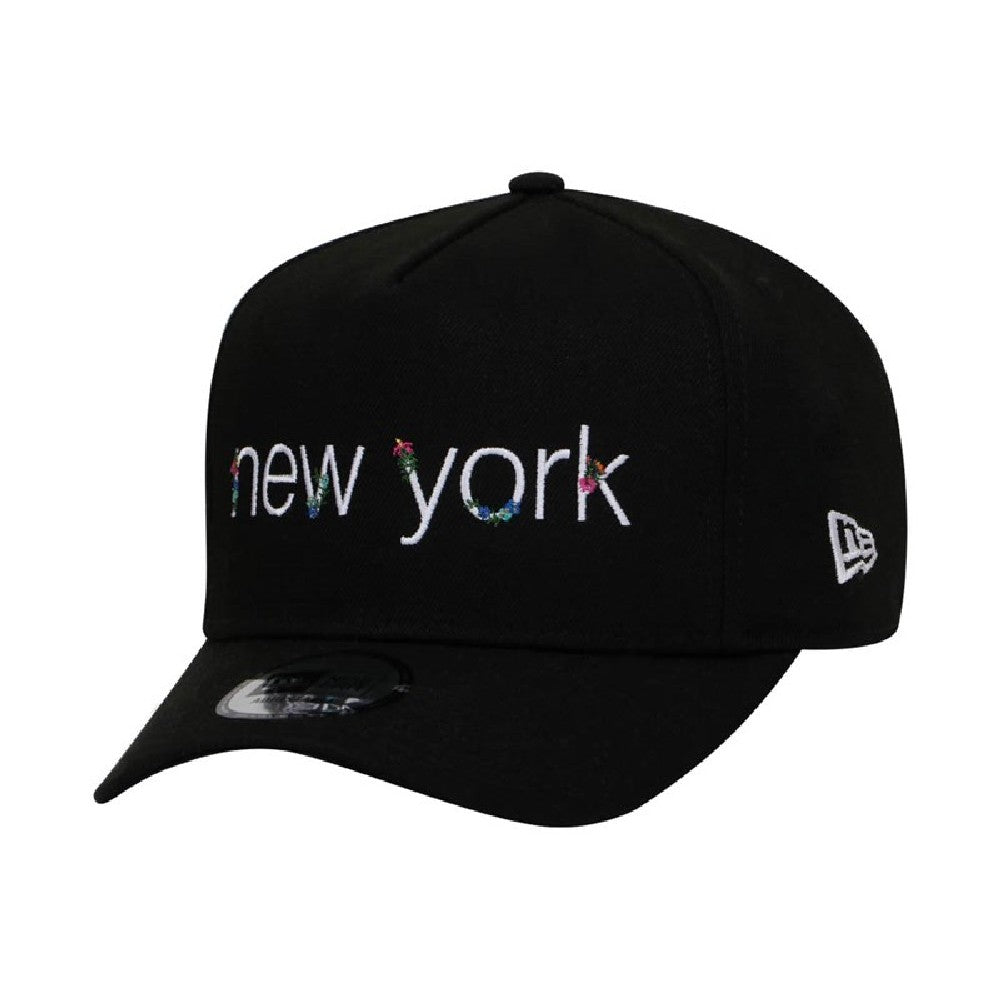 New Era Brand New York Lush Tropical Black 9Forty D-Frame Strapback Cap
