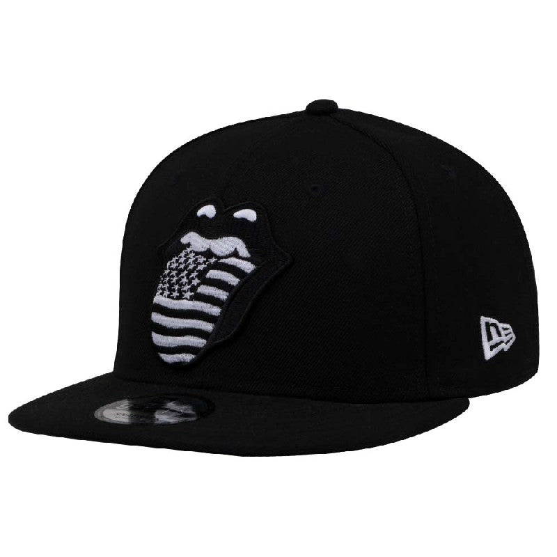 The Rolling Stones US Monotone Logo New Era 9Fifty Snapback Cap