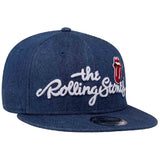 The Rolling Stones Basic Logo New Era Denim 9Fifty Snapback Cap