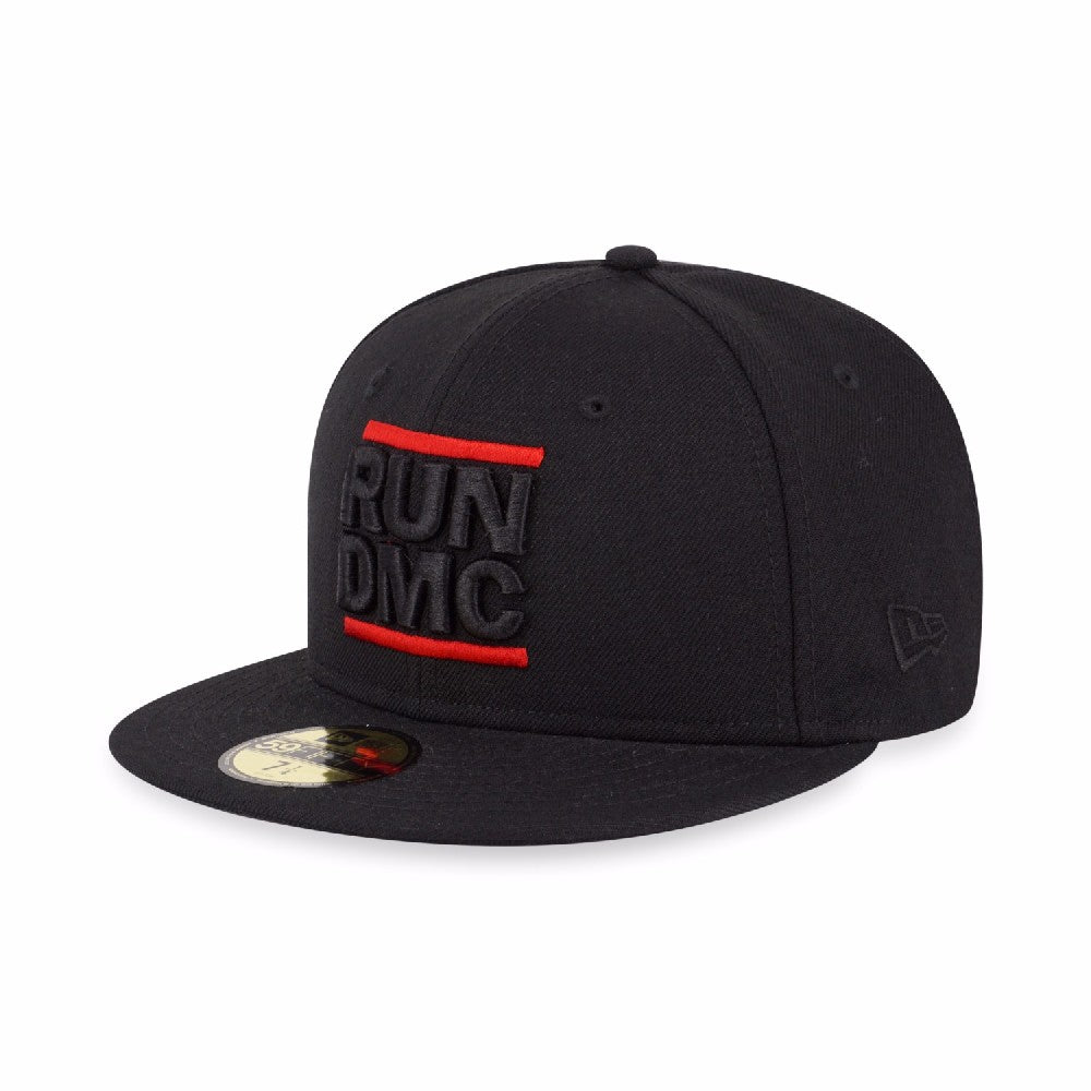 Run DMC Black Logo New Era 59Fifty Fitted Cap