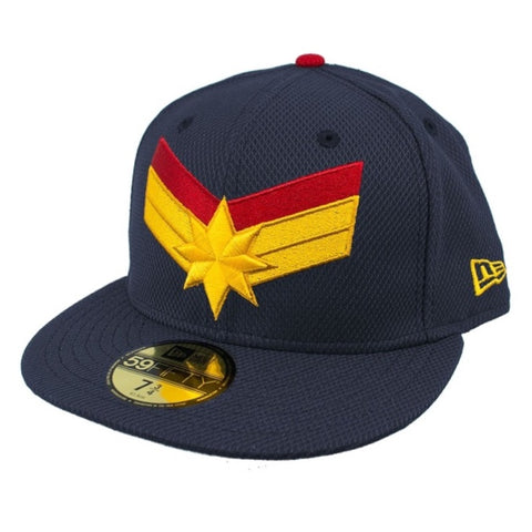 MARVEL CAPTAIN MARVEL LOGO Navy New Era 59Fifty Fitted Cap