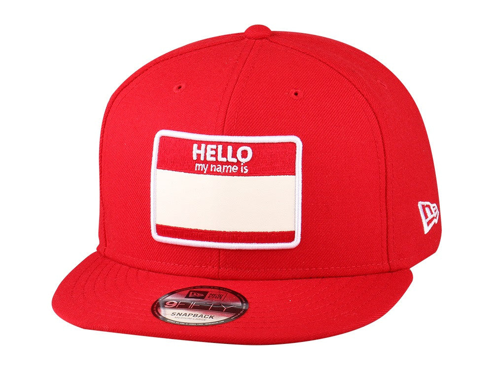 Hello My Name Is Red New Era 9Fifty Snapback Cap