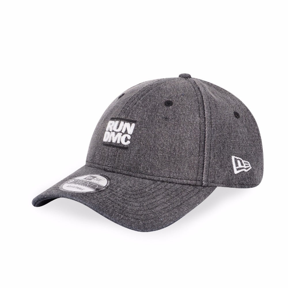 Run DMC Logo NYC New Era 9Twenty Black Denim Strapback Cap