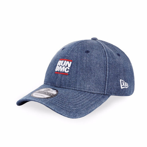 Run DMC Logo NYC New Era 9Twenty Blue Denim Strapback Cap