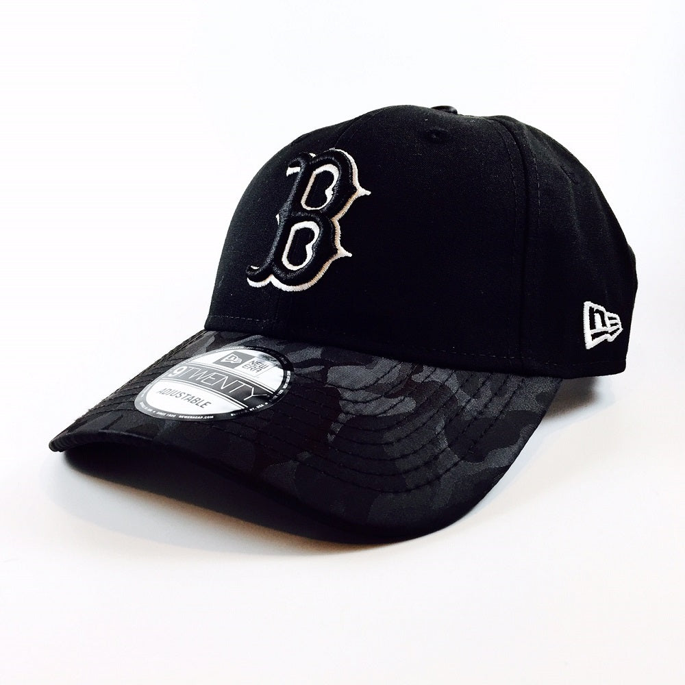 MLB Camo Shade Boston Red Sox Black New Era 9Twenty Strapback Cap