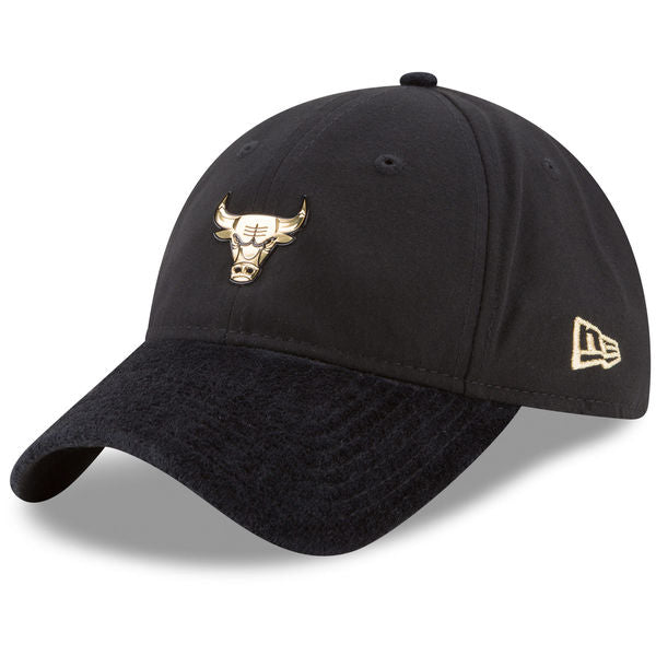NBA On-Court Chicago Bulls Gold Logo New Era 9Twenty Strapback Cap