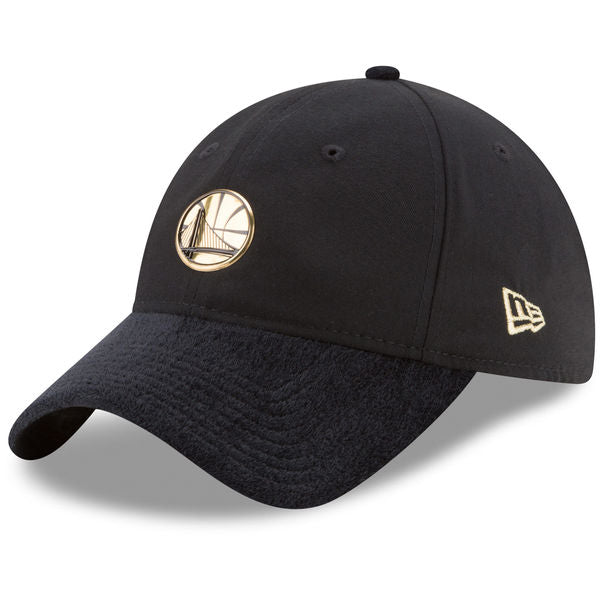 NBA On-Court Golden State Warriors Gold Logo New Era 9Twenty Strapback Cap