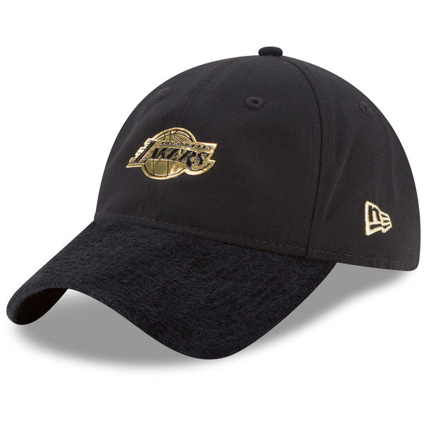 NBA On-Court Los Angeles Lakers Gold Logo New Era 9Twenty Strapback Cap