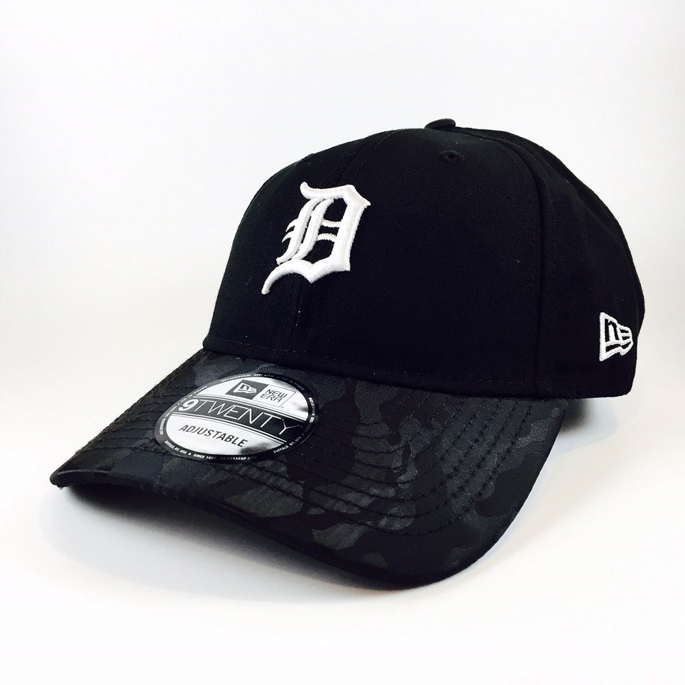 MLB Camo Shade Detroit Tigers Black New Era 9Twenty Strapback Cap