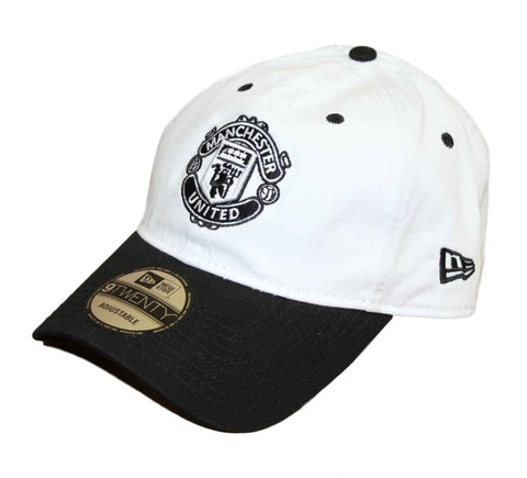 a98a7042c1164 Sold Out Manchester United Kit Hook Up White-Black New Era 9Twenty  Strapback Cap
