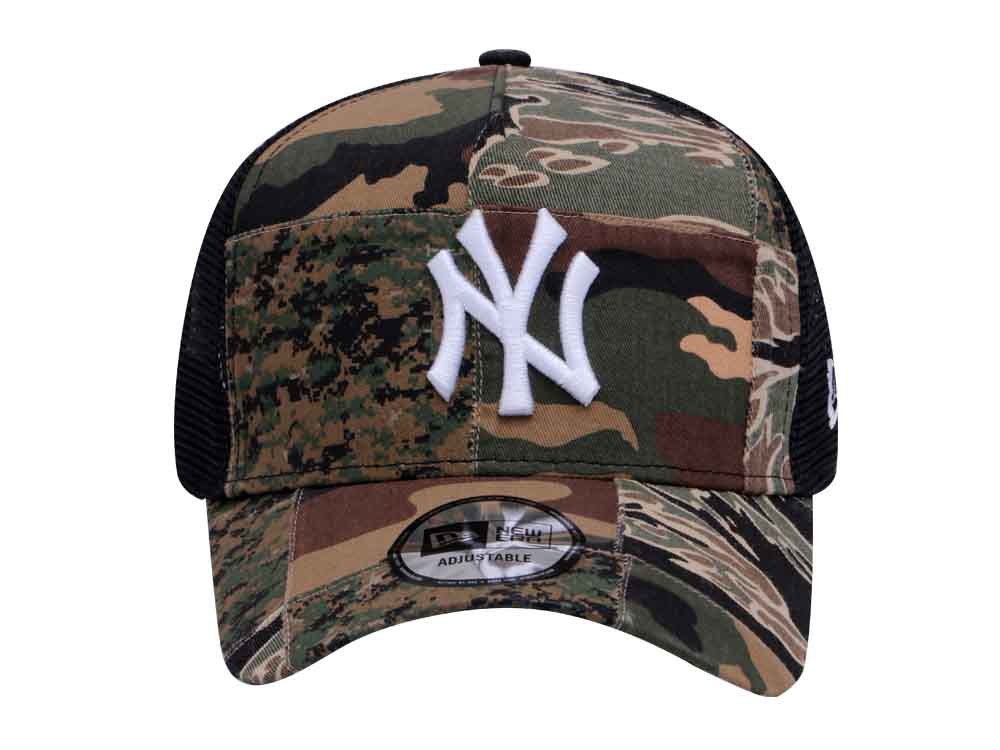 MLB Camo Patchwork New York Yankees New Era Trucker 9Forty A-Frame Snapback Cap