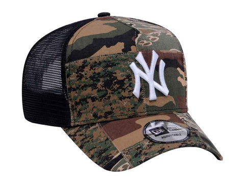 2f4d2fe7981a1 ... coupon code for mlb camo patchwork new york yankees new era trucker  9forty a frame snapback