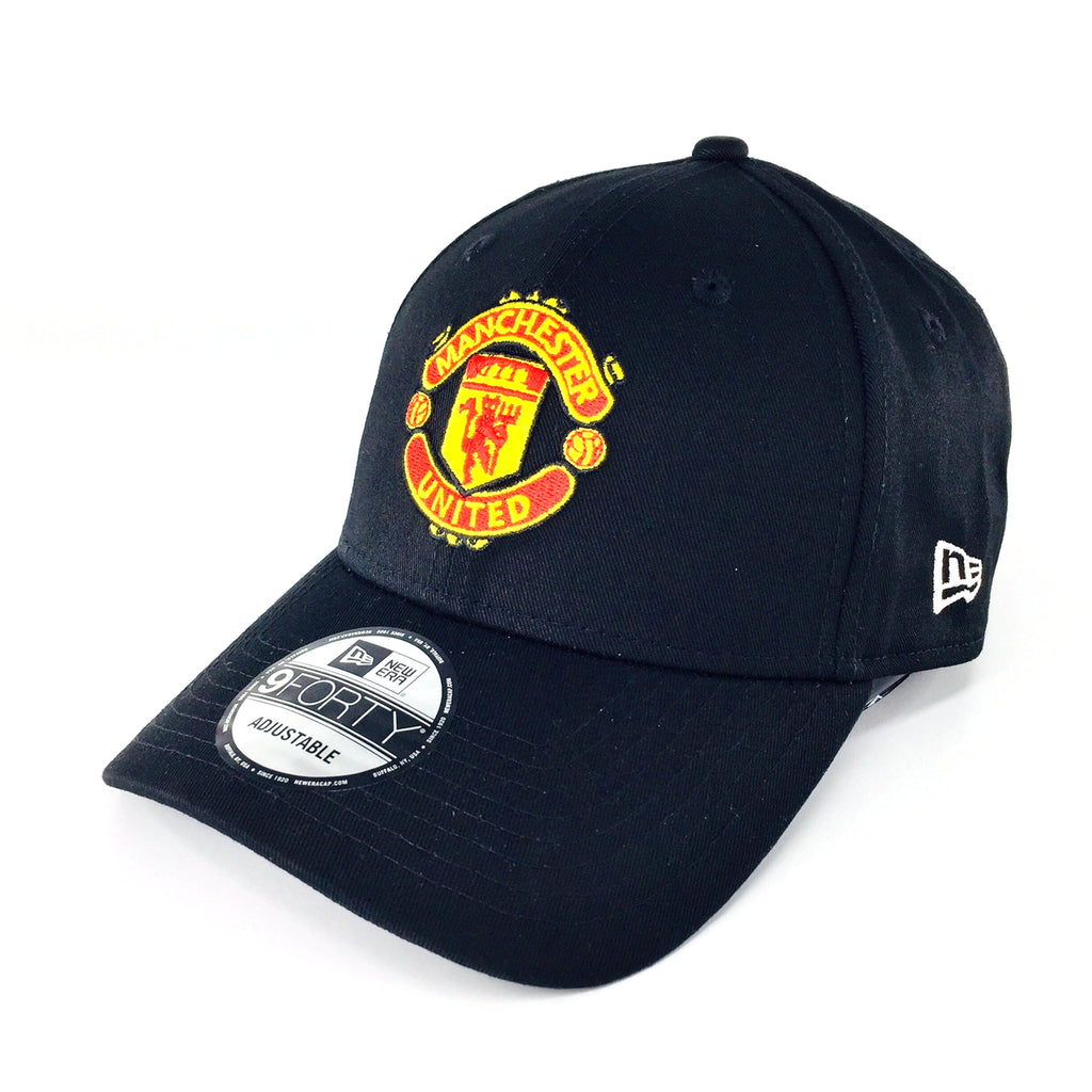 Manchester United Basic Logo New Era Black 9Forty Strapback Cap