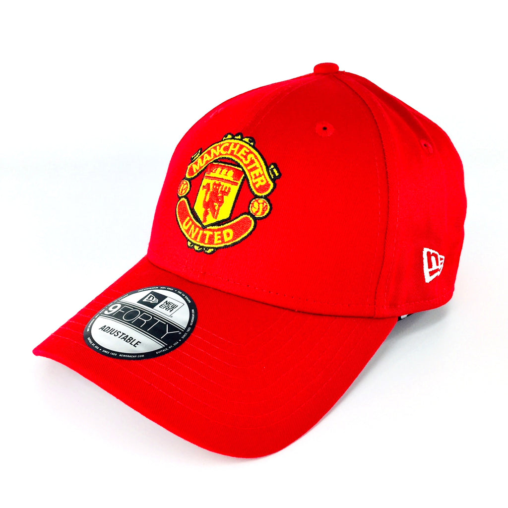 Manchester United Basic Logo New Era Red 9Forty Strapback Cap