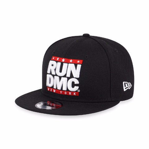 Run DMC White Logo New York New Era 9Fifty Snapback Cap