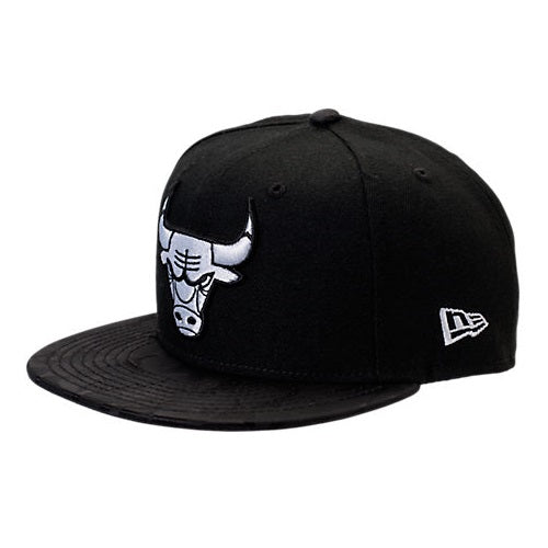 NBA Camo Shade Chicago Bulls Black New Era 9Fifty Snapback Cap