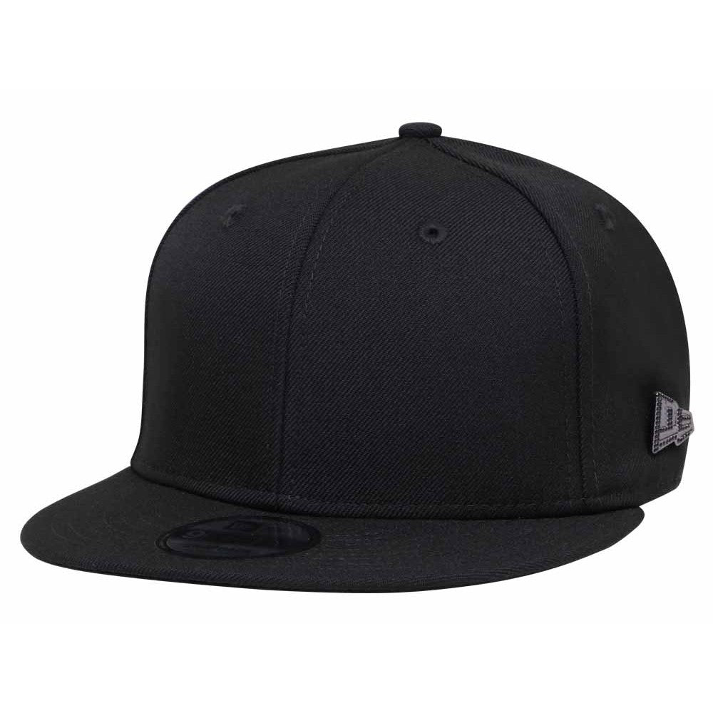 New Era Brand Black Crystal 9Fifty Snapback Cap