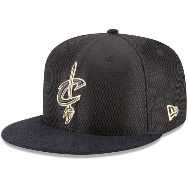 NBA On-Court Cleveland Cavaliers Gold Logo New Era 9Fifty Snapback Cap