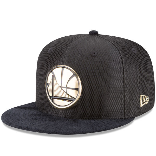 NBA On-Court Golden State Warriors Gold Logo New Era 9Fifty Snapback Cap